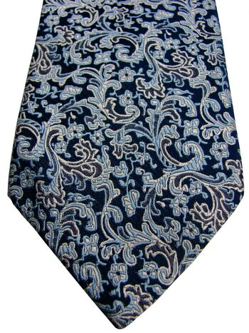 MARKS & SPENCER M&S AUTOGRAPH Mens Tie Blue - Paisley