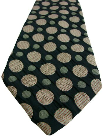 TED BAKER Mens Tie Black TEXTURED – Polka Dots
