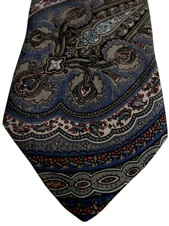 LIBERTY Mens Tie Multi-Coloured Intricate Design SKINNY