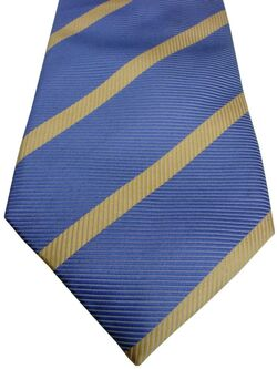 TM LEWIN Mens Tie Blue – Yellow Stripes