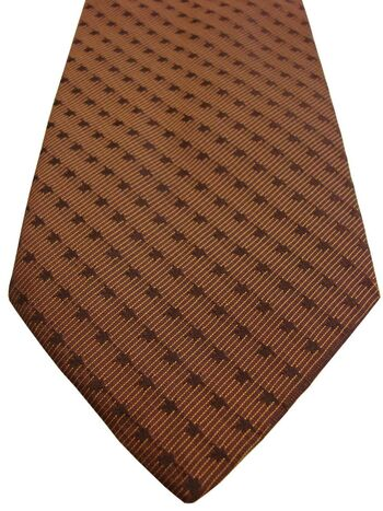 HUGO BOSS Mens Tie Brown – Striped Design