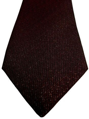 DUCHAMP LONDON Mens Tie Dark Burgundy - SPARKLY SKINNY NEW