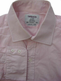 TM LEWIN 100 Shirt Mens 16.5 L Pink