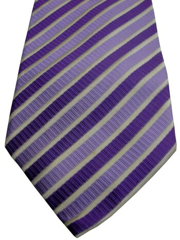CARDUCCI Mens Tie Pink Lilac & White Stripes