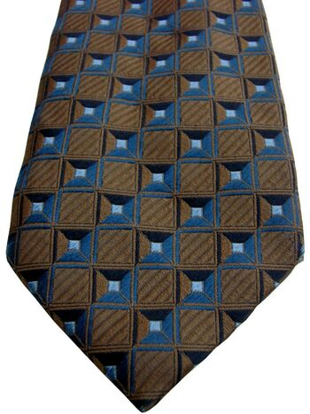 CANALI Tie Brown - Squares