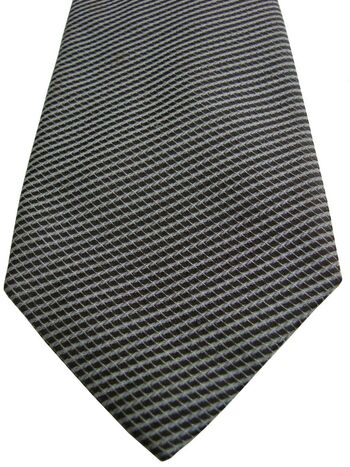 CALVIN KLEIN Mens Tie Brown - Check SKINNY