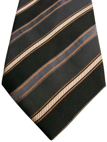 HAWES & CURTIS Tie Brown - Stripes