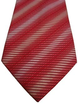 AUSTIN REED Tie Red Light Yellow & White Blurred Stripes