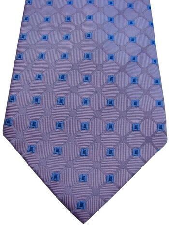 HAWES & CURTIS Mens Tie Lilac – Blue Squares
