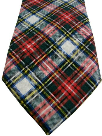 EMMETT Tie Multi-Coloured Check WOOL NEW