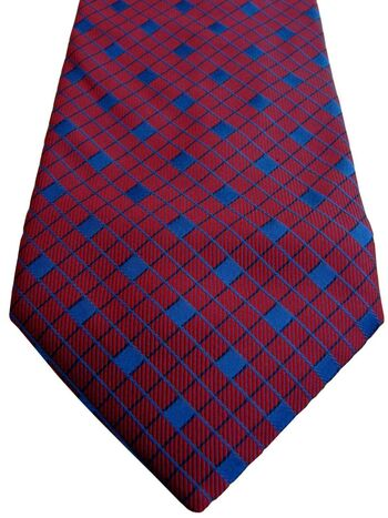 BAUMLER Tie Red – Blue Squares