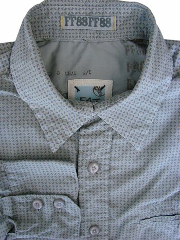 FAT FACE Shirt Mens 15.5 S Grey - Check