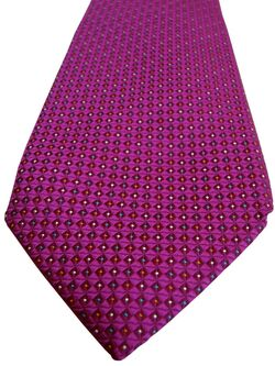 CHARLES TYRWHITT Mens Tie Fuchsia – Multi-Coloured Dots NEW