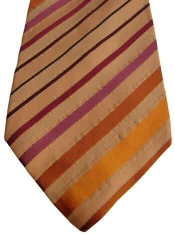 PROCHOWNICK Mens Tie Multi-Coloured Stripes TEXTURED