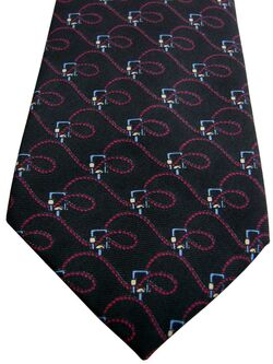 BROOKS BROTHERS – BROOKSGATE Tie Black - Twisty Ropes - SKINNY