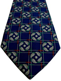 EDE & RAVENSCROFT Tie Blue – Red & Green Golf Clubs
