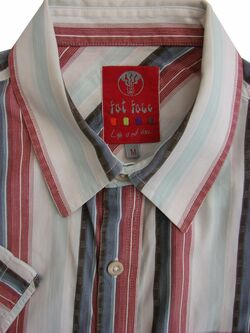 FAT FACE Shirt Mens 16.5 M Multi-Coloured Stripes SHORT SLEEVE