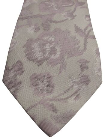 DUCHAMP LONDON Tie Off White - Blurred Lilac Flowers