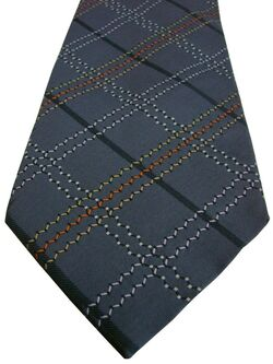 KENZO HOMME Mens Tie Grey – Multi-Coloured TEXTURED Check