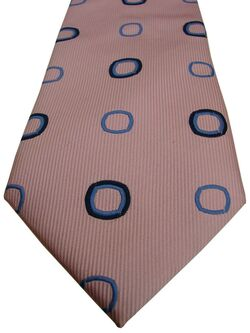 TM LEWIN Mens Tie Pink – Blue Polka Dots