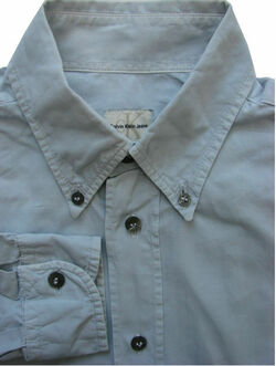 CALVIN KLEIN Shirt Mens 14.5 M Grey Blue
