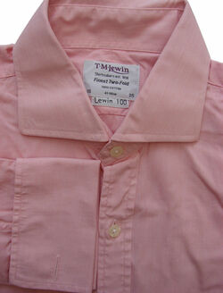 TM LEWIN 100 Shirt Mens 15.5 M Pink