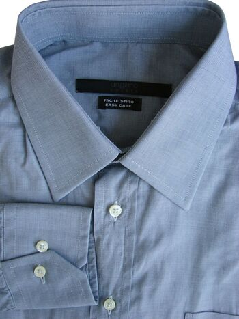 UNGARO Shirt Mens 15.5 M Grey EASY CARE & LIGHTWEIGHT