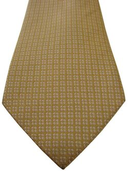 TM LEWIN Mens Tie Yellowy Orange White Flowers