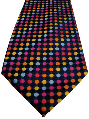 CHARLES TYRWHITT Mens Tie Multi-Coloured Polka Dots