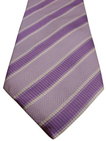 TED BAKER ENDURANCE Mens Tie Purple Lilac & White Stripes