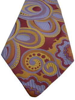 TREND OF LONDON Mens Tie Pink Lilac Yellow & Orange Shapes