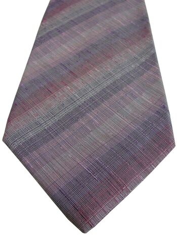 KENZO HOMME Tie Lilac Pink & Burgundy Stripes