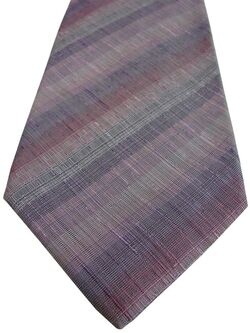 KENZO HOMME Mens Tie Lilac Pink & Burgundy Stripes