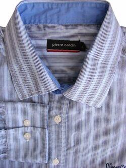 ed95c7fc0c PIERRE CARDIN Shirt Mens 16.5 L White - Multi-Coloured Stripes