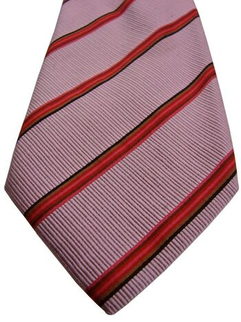 ETON Mens Tie Pink - Multi-Coloured Stripes