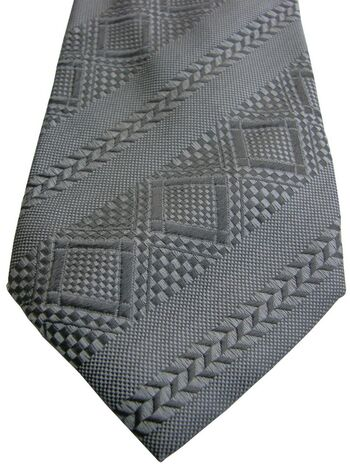 CARNAVAL DE VENISE Mens Tie Silver - Stripes & Diamonds
