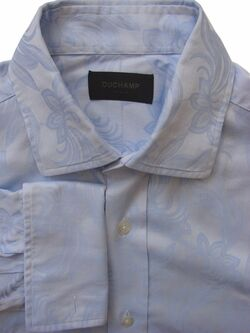 DUCHAMP LONDON Shirt Mens 16 M Blue - Flowers