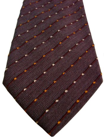 PAL ZILERI Tie Brown - HERRINGBONE TEXTURED Stripes NEW