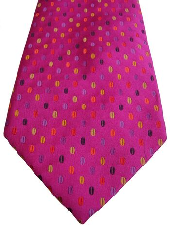 DUCHAMP LONDON Tie Fuchsia - Multi-Coloured Ovals