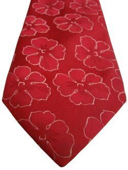 PAL ZILERI Tie Red - Flowers