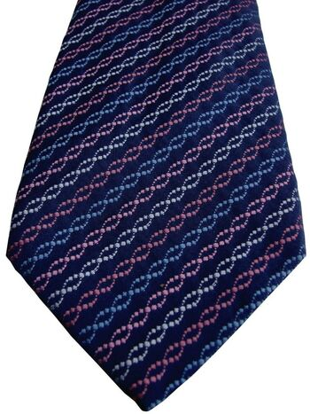 THOMAS PINK Tie Blue - Red Blue Pink & Green Link Chains