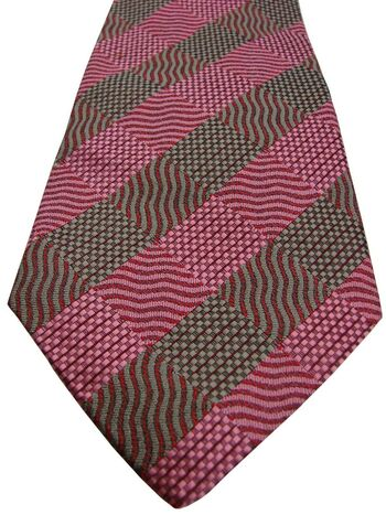 HILDITCH & KEY Tie Pink & Grey Squares
