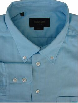 DUCHAMP LONDON Shirt Mens 16.5 L Turquoise