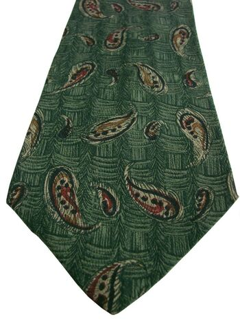 JOSEPH ABBOUD Mens Tie Green Brown Tear Drops