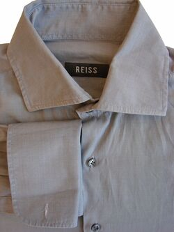 REISS Shirt Mens 15 M Grey