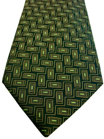 GIOVANNI ROSSI Tie Green - Rectangles