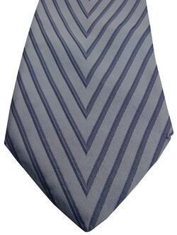 DOLCE & GABBANA D&G Tie Light Blue - V Shaped Stripes