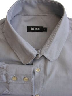 REISS Shirt Mens 16.5 L Light Grey