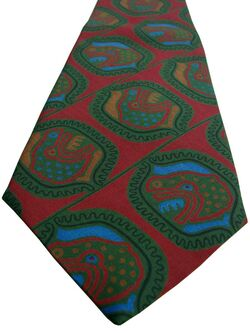 YVES SAINT LAURENT YSL Mens Tie Red - Green Red & Blue Design