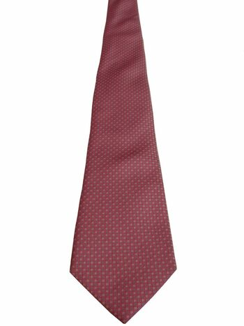 HAWES & CURTIS Mens Tie Pink - Blue & White Mini Squares